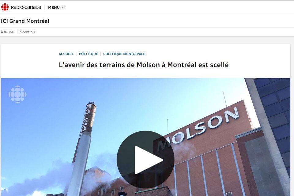 L'avenir des terrains de Molson à Montréal est scellé